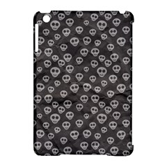 Skull Halloween Background Texture Apple Ipad Mini Hardshell Case (compatible With Smart Cover)