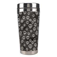 Skull Halloween Background Texture Stainless Steel Travel Tumblers