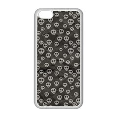 Skull Halloween Background Texture Apple Iphone 5c Seamless Case (white)