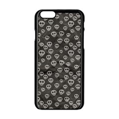 Skull Halloween Background Texture Apple Iphone 6/6s Black Enamel Case