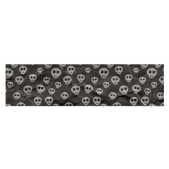 Skull Halloween Background Texture Satin Scarf (oblong)