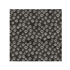 Skull Halloween Background Texture Small Satin Scarf (square)