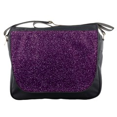Purple Colorful Glitter Texture Pattern Messenger Bags