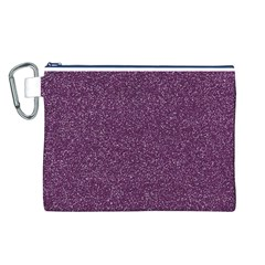 Purple Colorful Glitter Texture Pattern Canvas Cosmetic Bag (l)