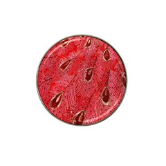 Red Peacock Floral Embroidered Long Qipao Traditional Chinese Cheongsam Mandarin Hat Clip Ball Marker (10 Pack)