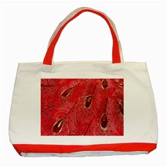 Red Peacock Floral Embroidered Long Qipao Traditional Chinese Cheongsam Mandarin Classic Tote Bag (red)