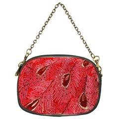 Red Peacock Floral Embroidered Long Qipao Traditional Chinese Cheongsam Mandarin Chain Purses (one Side)