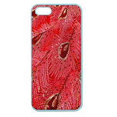 Red Peacock Floral Embroidered Long Qipao Traditional Chinese Cheongsam Mandarin Apple Seamless Iphone 5 Case (color)