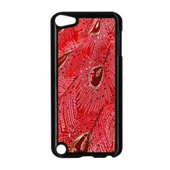 Red Peacock Floral Embroidered Long Qipao Traditional Chinese Cheongsam Mandarin Apple Ipod Touch 5 Case (black)