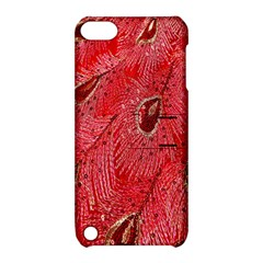 Red Peacock Floral Embroidered Long Qipao Traditional Chinese Cheongsam Mandarin Apple Ipod Touch 5 Hardshell Case With Stand