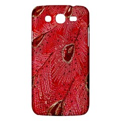 Red Peacock Floral Embroidered Long Qipao Traditional Chinese Cheongsam Mandarin Samsung Galaxy Mega 5 8 I9152 Hardshell Case