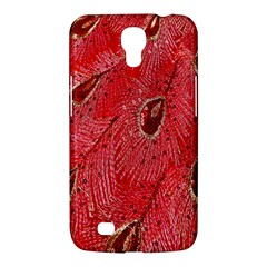 Red Peacock Floral Embroidered Long Qipao Traditional Chinese Cheongsam Mandarin Samsung Galaxy Mega 6 3  I9200 Hardshell Case