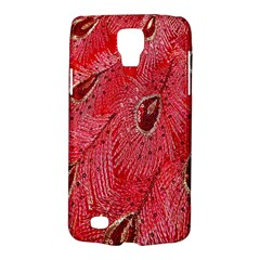 Red Peacock Floral Embroidered Long Qipao Traditional Chinese Cheongsam Mandarin Galaxy S4 Active