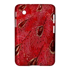 Red Peacock Floral Embroidered Long Qipao Traditional Chinese Cheongsam Mandarin Samsung Galaxy Tab 2 (7 ) P3100 Hardshell Case