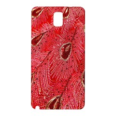 Red Peacock Floral Embroidered Long Qipao Traditional Chinese Cheongsam Mandarin Samsung Galaxy Note 3 N9005 Hardshell Back Case