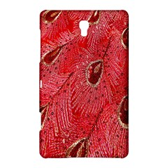 Red Peacock Floral Embroidered Long Qipao Traditional Chinese Cheongsam Mandarin Samsung Galaxy Tab S (8 4 ) Hardshell Case