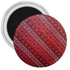 Red Batik Background Vector 3  Magnets