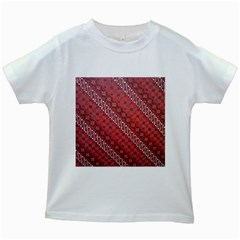 Red Batik Background Vector Kids White T Shirts