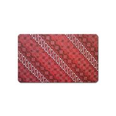 Red Batik Background Vector Magnet (name Card)