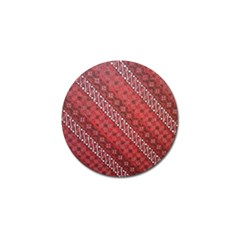 Red Batik Background Vector Golf Ball Marker (10 Pack)