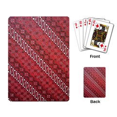 Red Batik Background Vector Playing Card