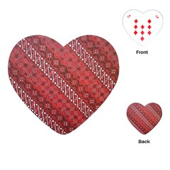 Red Batik Background Vector Playing Cards (heart)