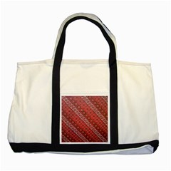Red Batik Background Vector Two Tone Tote Bag