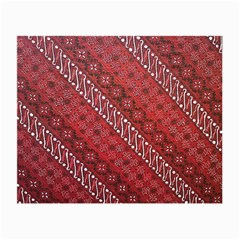Red Batik Background Vector Small Glasses Cloth (2 Side)