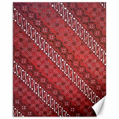 Red Batik Background Vector Canvas 11  X 14