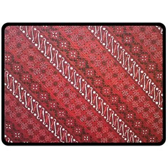 Red Batik Background Vector Fleece Blanket (large)