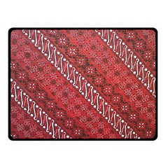 Red Batik Background Vector Fleece Blanket (small)