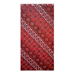 Red Batik Background Vector Shower Curtain 36  X 72  (stall)