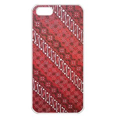 Red Batik Background Vector Apple Iphone 5 Seamless Case (white)