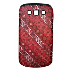 Red Batik Background Vector Samsung Galaxy S Iii Classic Hardshell Case (pc+silicone)