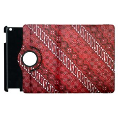 Red Batik Background Vector Apple Ipad 2 Flip 360 Case