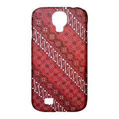 Red Batik Background Vector Samsung Galaxy S4 Classic Hardshell Case (pc+silicone)