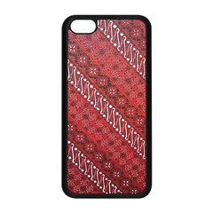 Red Batik Background Vector Apple Iphone 5c Seamless Case (black)