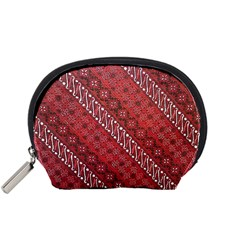 Red Batik Background Vector Accessory Pouches (small)