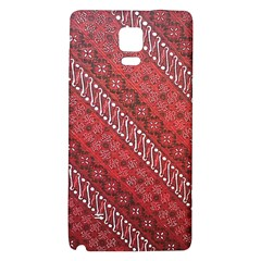 Red Batik Background Vector Galaxy Note 4 Back Case