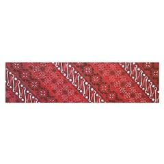 Red Batik Background Vector Satin Scarf (oblong)