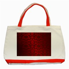 Red Dark Vintage Pattern Classic Tote Bag (red)