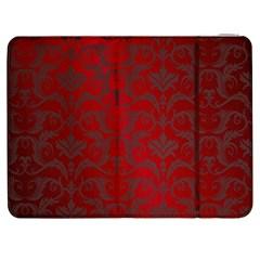 Red Dark Vintage Pattern Samsung Galaxy Tab 7  P1000 Flip Case