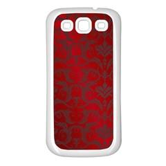 Red Dark Vintage Pattern Samsung Galaxy S3 Back Case (white)