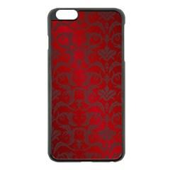 Red Dark Vintage Pattern Apple Iphone 6 Plus/6s Plus Black Enamel Case