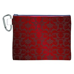 Red Dark Vintage Pattern Canvas Cosmetic Bag (xxl)