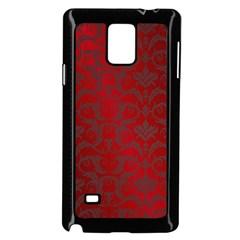 Red Dark Vintage Pattern Samsung Galaxy Note 4 Case (black)