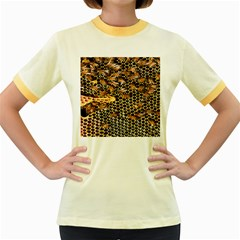 Queen Cup Honeycomb Honey Bee Women s Fitted Ringer T Shirts