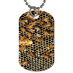 Queen Cup Honeycomb Honey Bee Dog Tag (one Side)
