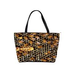 Queen Cup Honeycomb Honey Bee Shoulder Handbags