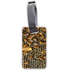 Queen Cup Honeycomb Honey Bee Luggage Tags (one Side)